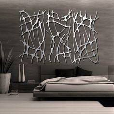 Cabecero de metal, en vez de decoración de pared :)