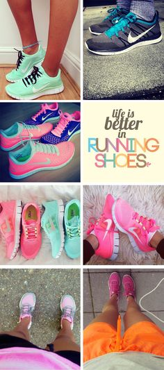 running shoes.