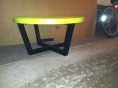 Low rider lime green and black table