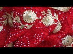₹5 में गोटा वर्क करके अपने ड्रेस को सजाए/राजपूती पोशाक एंब्रॉयडरी गोटा वर्क/hand work embroidery - YouTube