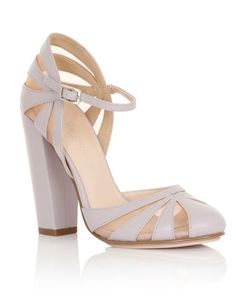 CY: too lilac? Too chunky heel? Paper Dolls Round Toe Ankle Strap Heeled Sandals