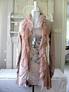 """I think I can do this to lots of things, to """"Bohemian"""" them up. Perhaps I need to buy thrift store lacey items just for the lace, because it's expensive."""