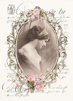 Vintage woman Digital collage p1022 Vintage Labels, Vintage Ephemera, Vintage Cards, Vintage Postcards, Images Vintage, Vintage Artwork, Vintage Pictures, Decoupage Vintage, Decoupage Paper