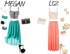 """Megan and Liz"" by samanthakimberlee on Polyvore"