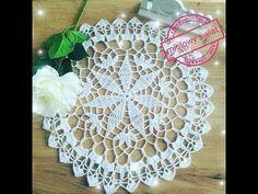 Serwetka na szydełku Part crochet doily, size medium, step by step Craft Tutorials, Crocheting, Crafts For Kids, Barbie, Youtube, Crafty, Creative, Projects, Diy