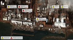 news graphic of damage to the Fukushima nuclear plant