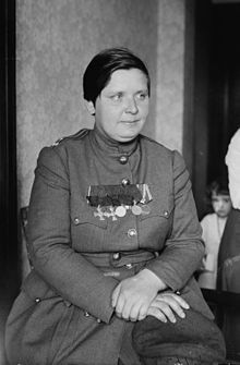 Maria Bochkareva. Russian woman who became Commander of the First Battalion of Death. World War l.