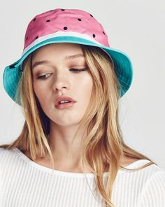 Lazy Oaf Watermelon Bucket Hat - Hats   Caps - Categories - Womens Ponytail  Hairstyles 3242e2e784b8