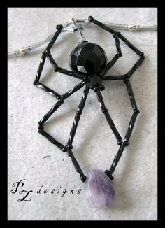 Crystal Spider Pendant by PurlyZig on DeviantArt