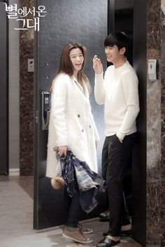 Korean actress, 전지현/Jun Ji Hyun, drama My Love from the Star white coat style. Jun Ji Hyun, Hyun Kim, Jang Hyuk, Korean Wave, Korean Star, 2014 Trends, Kdrama, My Love From Another Star, Korean Entertainment