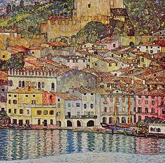 Malcena at the Gardasee by Klimt