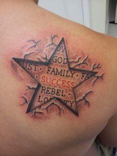 Star of Success Tattoo - http://16tattoo.com/star-success-tattoo/