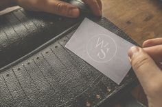 BUSINESS CARD BOOK Natural leather with 72 spaces for cards. On sale - 60 €