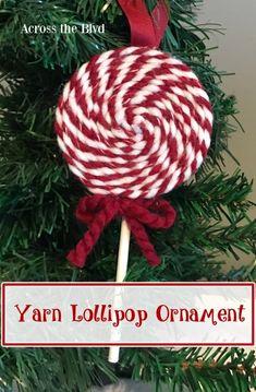 Yarn Lollipop Christmas Ornament
