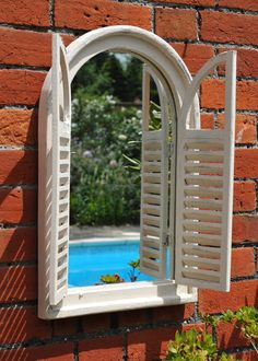 Buy Wall mirror with shutters: Delivery by Waitrose Garden in association with Crocus