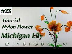 Nylon stocking flowers tutorial #20, How to make nylon stocking flower step by step - YouTube