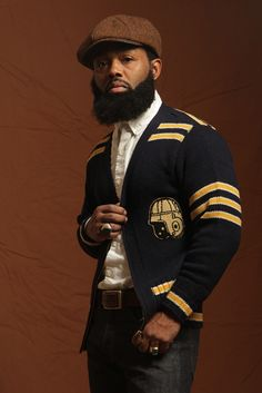First Look: Brooklyn Circus Holiday Sweater Collection Sharp Dressed Man, Well Dressed Men, Beard Gang, Grown Man, Gentleman Style, Look Cool, Bearded Men, Black Men, Beautiful Men