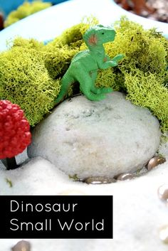 Dinosaur Small World and Sensory Play...great for developing language and story retelling activities
