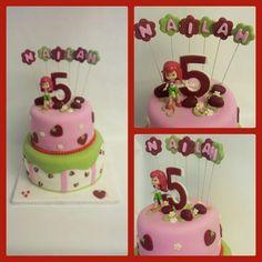 Strawberry shortcake red velvet and vanilla cake