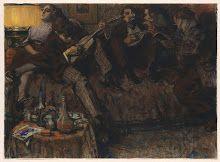 Inspiration: BOHÈME by Leo Gestel (black chalk, crayons, pastels) #Rijksmuseum #Rijksstudio #Paris #Bohemian
