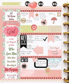 Gallery of Happy Planner Spreads showing Bible Journaling in a Planner. #BibleJournaling #Happyplanner #PomPlanner #Planneraddict