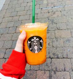 Mango passion juice with bf Sophie ❤️❤️yummy Starbucks drinks