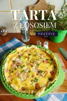 Przepis na obiad - prosta tarta z łososiem Quiche, Mashed Potatoes, Recipies, Vegan, Cooking, Breakfast, Healthy, Ethnic Recipes, Pies