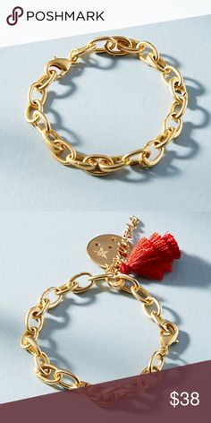 Anthropologie Chain Link Bracelet  NWT Brand new with tag! Great solid quality. Gold tone. Can be worn by itself or add charms to it. I have many different types of charms listed separately. Anthropologie Jewelry Bracelets