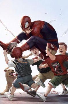 Spiderman by Inhyuk Lee Marvel Comic Universe, Marvel Comics Art, Marvel Heroes, All Spiderman, Amazing Spiderman, Comic Books Art, Comic Art, Spectacular Spider Man, Spider Verse