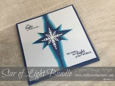 Star Burst Christmas Card Idea using Star of Light by Stampin' Up         I am delighted to be taking part in another Pootler's Blog Hop, w...