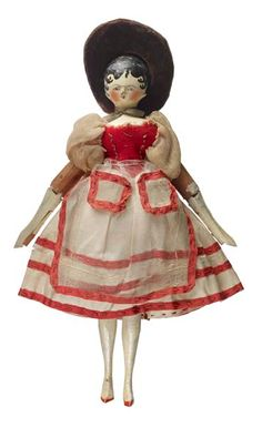 """Mademoiselle Proche"", one of Queen Victoria's childhood dolls (1833)~Image © Museum of London"