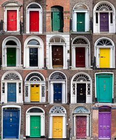 Doors of Dublin by Sergio Formoso, via 500px
