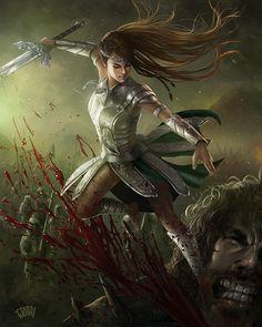 ArtStation - Slayer of Goliath, Jackson Tjota