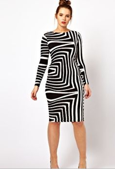 Geometric Print Dress Asos Curve   Have this dress too which is super sexy