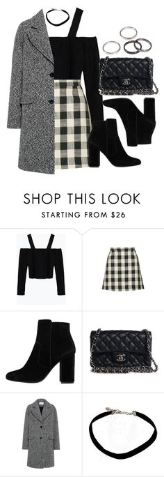 """Sin título #11779"" by vany-alvarado ❤ liked on Polyvore featuring Zara, Topshop, MANGO, Chanel and Carven"