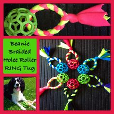 Beanie Braided Holee Roller RING Tug by BeanieBraidedLeashes