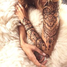 Feminine sleeve tattoo