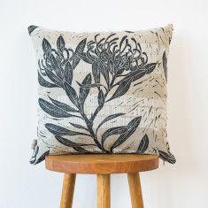 Waratah & Buds cushion cover