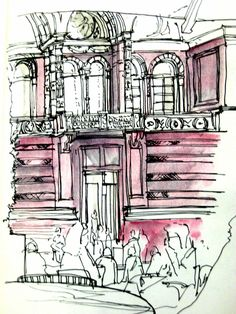 Urban sketchers show the world, one drawing at a time. Urban Sketching, Art Sketchbook, Architecture Sketchbook, Drawing Sketches, Sketch Inspiration, Sketchbook Journaling, Art Sketches, Art Pens, London Art