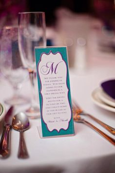 Photo booth picture frame insert- wedding favor- teal and purple