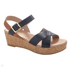 Hannahs - Zensu Flare Black on Cork shoe. RRP $149.95