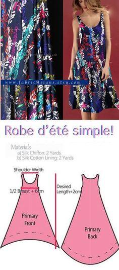 how to sew beach dress? easy beach dress pattern free PDF
