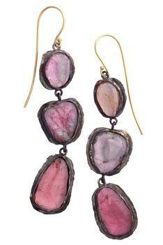 rose glass earrings (universe mininga)
