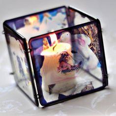 Custom Photo Candle Holder  Resin Waterproof  by KMurphyDesigns, $55.00