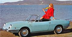 Fiat 850 Sport Spider with coachwork by Bertone Fiat 850, Fiat Spider, Fiat Cars, Small Cars, Car Girls, Maserati, Motor Car, Cars And Motorcycles, Dream Cars