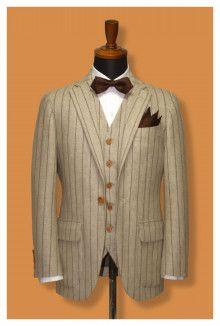 【挙式用タキシード】ボタンの数も選べます。春先に人気のベージュタキシード|結婚式の新郎タキシード|新郎衣装はメンズブライダルへ-2ページ目