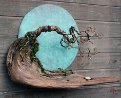 Blue Moon in October Wall Sculpture by EarthlyCreature on Etsy