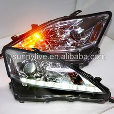 739.99$  Watch now - http://aliuqg.worldwells.pw/go.php?t=32489882544 - for Lexus IS250 IS350 IS300  LED Head Lamps with Projector Lens 2006-2010 SN Chrome Housing 739.99$