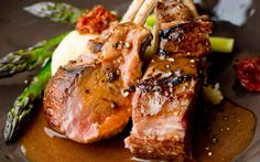 A New York steak is generally made of beef and may also serve other types of meat like lamb.