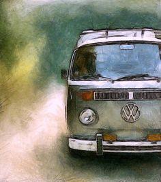 Volkswagen Camper Van (Print) by Michelle Calkins
